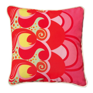Red Grevillea cushion cover.